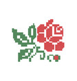 Bulgarian Embroidery Rose Bud vector image