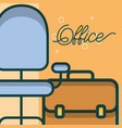 business briefcase chair furniture office vector image vector image