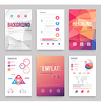 Business flyer set vector image vector image