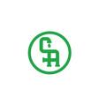 ca-logo vector image vector image