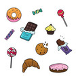 candy and cookies set decorations for events and vector image vector image
