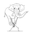 cartoon of businessman carrying elephant on his vector image vector image