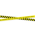 caution biohazard black and yellow striped borders vector image vector image
