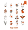 Celebration Easter Icons vector image vector image