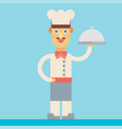 chef flat design vector image