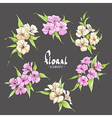 Chic pink and pale yellow flowers vector image vector image