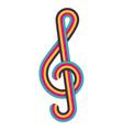 Cmyk treble clef vector image vector image