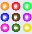 Coffee cup sign Big set of colorful diverse vector image vector image