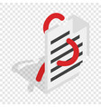 computer worm document destruction isometric icon vector image vector image