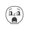 confused smile fase black and white emoji eps 10 vector image
