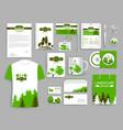 corporate identity set landscape design company vector image vector image