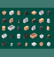 different box isometric icons isolated move vector image vector image