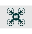Drone quadrocopter icon Digital camera symbol vector image vector image