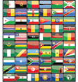 Elements design icons flags of the countries of Af vector image vector image