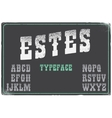 Estes modern western font with grunge texture on vector image