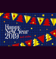 festive background 2019 happy new year and merry vector image vector image
