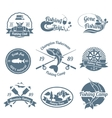 Fishing label set vector image vector image