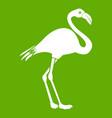 flamingo icon green vector image vector image