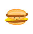 flat double cheeseburger with chop and cheese vector image