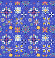 Floral snowflake seamless pattern vector image