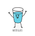 funny emotional glass cup vector image
