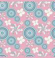 graffiti flowers seamless pattern for your design vector image