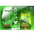 green packaging washing powder advertising