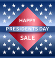 happy presidents day sale banner vector image vector image