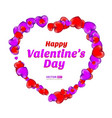 happy valentines day frame consisting red and vector image