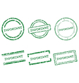 Important stamps vector image vector image