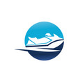 jet ski motor boat vector image vector image