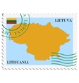 mail to-from Lithuania vector image vector image