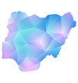 map of nigeria polygon vector image vector image