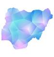 map of nigeria polygon vector image vector image