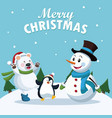 merry christmas cartoon vector image