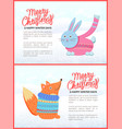 merry christmas happy winter days greeting card vector image vector image