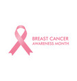 october breast cancer emblem sign for awareness mo vector image vector image