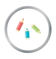 Pencil cartoon icon for web and vector image vector image