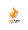 phone logo vector image