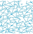 Postal letters envelopes line art seamless pattern vector image