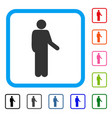 relax standing pose framed icon vector image vector image