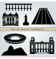 Rio de Janeiro landmarks and monuments vector image vector image