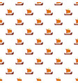 scandinavian ship pattern seamless vector image