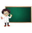 Scientist in classroom vector image vector image