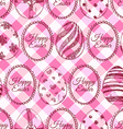 seamless pattern sketch easter eggs vector image vector image
