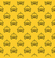 seamless pattern with taxi car line icon vector image vector image