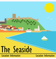 Seaside Town vector image vector image