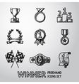 Set of winners handdrawn icons - goblet medal vector image vector image