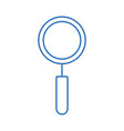 silhouette magnifying glass tool to explore vector image vector image