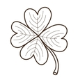 Sketch clover leaf isolated on white vector image vector image